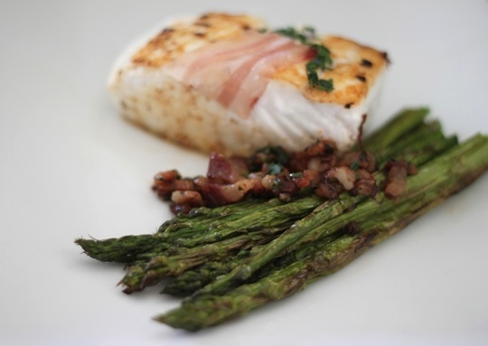 Pancetta With Halibut And Asparagus Mark S Daily Apple
