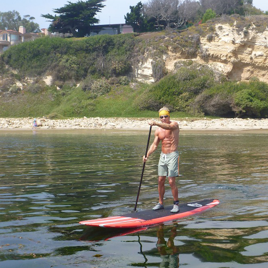 Mark Sisson - Paddle boarding at 60 Years Old