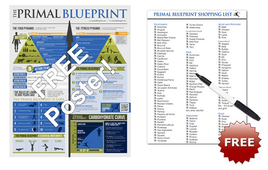 Grok friday sale the just released primal blueprint box set plus poster and shopping list malvernweather Choice Image
