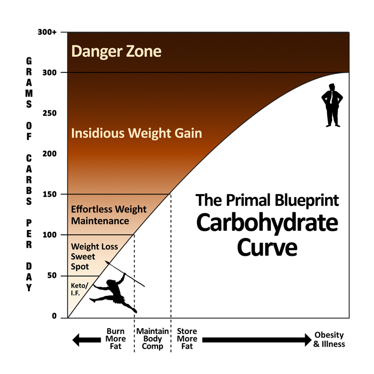 How to succeed with the primal blueprint marks daily apple the primal blueprint carbohydrate curve malvernweather Images