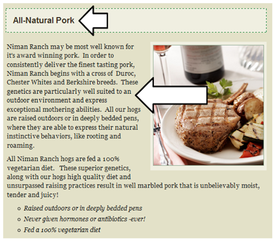 Niman Ranch All Natural Pork