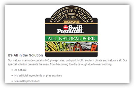 Swift All Natural Pork