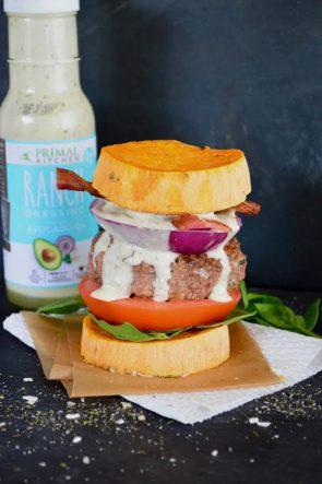 Blt Ranch Chicken Burgers With Sweet Potato Bun Mark S